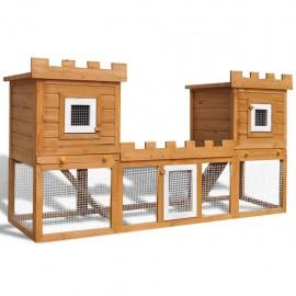 Casa grande de animales jaula conejera doble jaula de madera