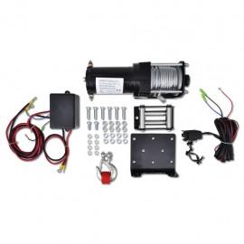 Cabrestante eléctrico 12V 1360KG placa montaje guía de rodillo