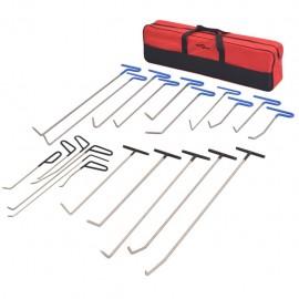 Set reparación de abolladuras PDR acero inoxidable 21 piezas