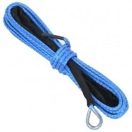 Cable de cabrestante azul 5 mm x 9 m