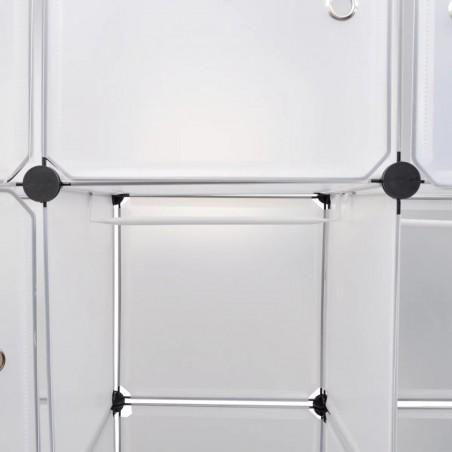 Armario modular 14 compartimentos blanco 37x146x180,5cm