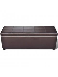 Banco baúl de interior, color marrón, extra grande