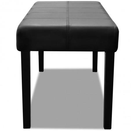 Banqueta negra de cuero artificial