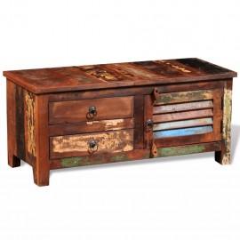 Mueble  para TV y aparatos Hi-Fi de madera maciza reciclada