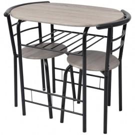 Mesa alta de cocina o bar con taburetes MDF