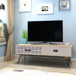 Mesita auxiliar para TV 100x40x35 cm Marrón