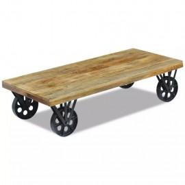 Mesa de centro madera de mango 120x60x30 cm