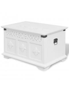 Set de baúles de almacenamiento 2 unidades blanco