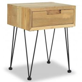 Mesita de noche 40x30x50 cm madera de teca maciza