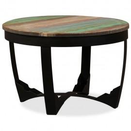 Mesa auxiliar de madera maciza reciclada 60x40 cm