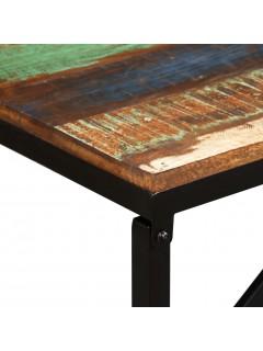 Banco de madera maciza reciclada 160x35x45 cm
