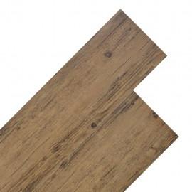 Lamas para suelo de PVC 5,26 m² 2mm marrón nogal