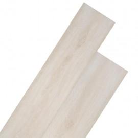 Lamas para suelo de PVC 5,26 m² 2 mm roble clásico blanco