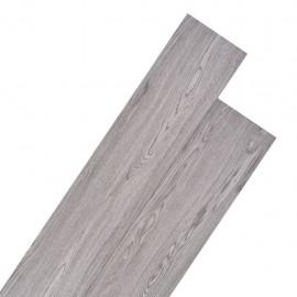 Lamas para suelo de PVC 5,26 m² 2 mm gris oscuro