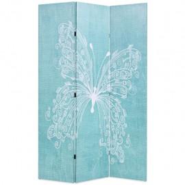 Biombo divisor plegable 120x170 cm mariposa azul