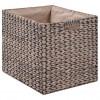 Banco con 2 cestas hierba marina 71x40x42 cm gris