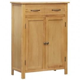 Mueble zapatero de madera maciza de roble 76x37x105 cm