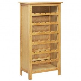 Botellero de madera maciza de roble 56x32x110 cm
