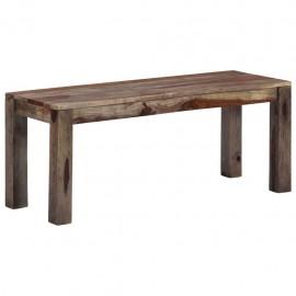 Banco de madera maciza de sheesham gris 110 cm