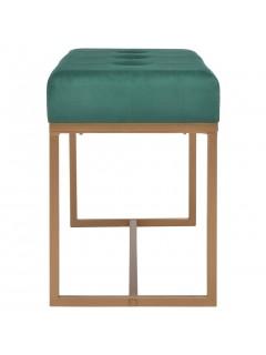 Banco 80 cm terciopelo verde