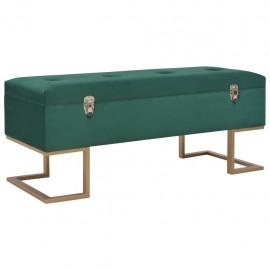 Banco con compartimento 105 cm verde de terciopelo