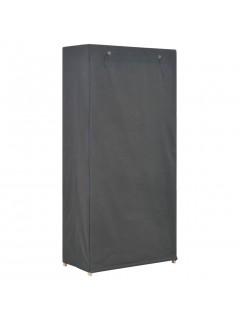 Armario de tela de 3 niveles gris 79x40x170 cm