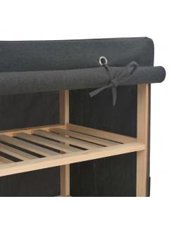 Armario de tela gris 200x40x170 cm