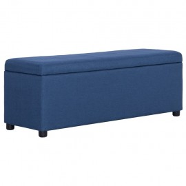 Banco con espacio de almacenaje 116 cm poliéster azul