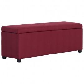 Banco con espacio de almacenaje 116 cm poliéster rojo vino