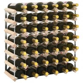 Botellero para 42 botellas de madera maciza de pino