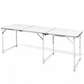 Mesita plegable de aluminio camping 180 x 60 cm