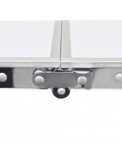 Mesita plegable de aluminio camping con 240 x 60 cm