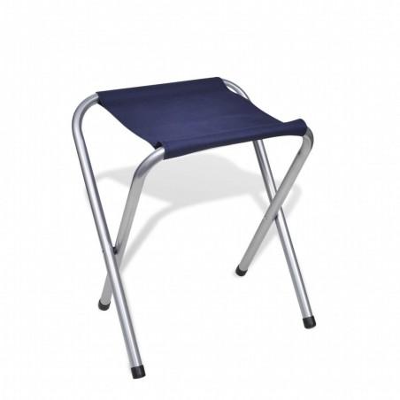 Mesa de camping plegable ajustable con 4 taburetes 120x60 cm