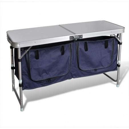 Armario de camping plegable con estructura de aluminio