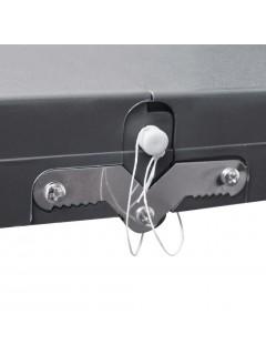 Set plegable camping 1 mesa 4 taburetes aluminio gris claro