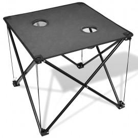 Mesa de camping plegable gris