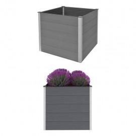 Jardinera de WPC 100x100x91 cm gris