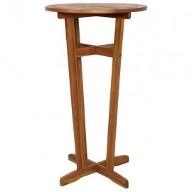 Mesa alta de bar de madera de acacia maciza 60x105 cm