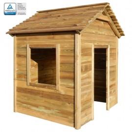 Casa de juegos de jardín de madera de pino FSC 123x120x146 cm