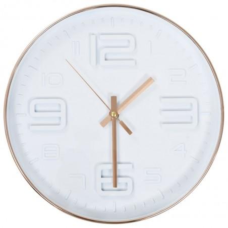 Reloj de pared apariencia de cobre 30 cm