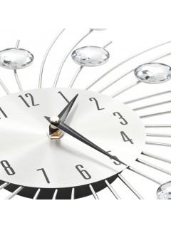 Reloj de pared con movimiento de cuarzo 50 cm plateado