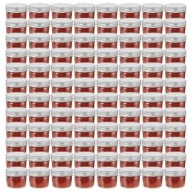 Tarros de mermelada de vidrio tapa plateada 96 unidades 110 ml
