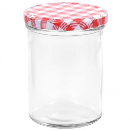 con tapa con tapas caf/é recipientes de almacenamiento herm/éticos de 400 ml para comida Tarros de cristal apilables Webuyii 1 pila cocina herm/éticos galletas