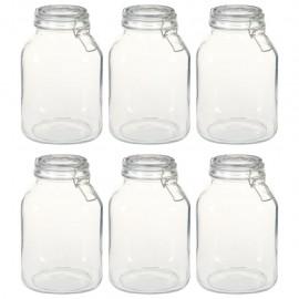 Tarros de vidrio con cierre hermético 6 unidades 3 L