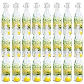 Botellas de vidrio con cierre de clip 24 unidades 1 L