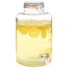 Dispensador de agua XXL con grifo vidrio transparente 8 L