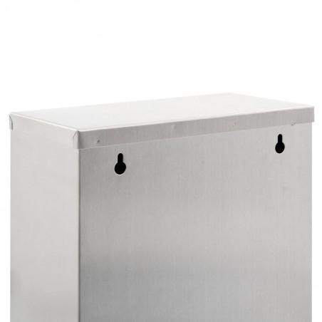 Cubo de basura de reciclaje de acero inoxidable 3x15 L