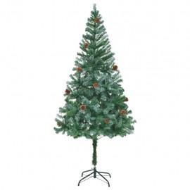 Árbol de Navidad glaseado con piñas 180 cm