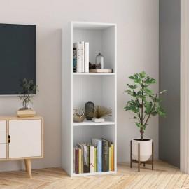 Estantería de libros/mueble TV aglomerado blanco 36x30x114 cm