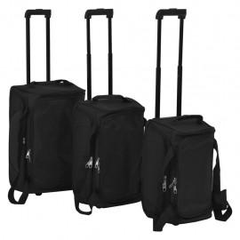 Juego de 3 maletas negras